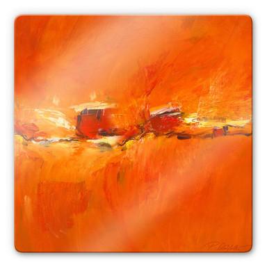 Glasbild Schüssler - Composition in Orange