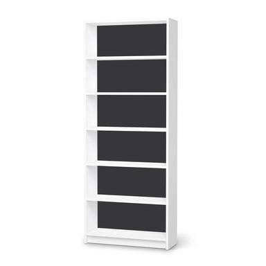 Klebefolie IKEA Billy Regal 6 Fächer - Grau Dark- Bild 1