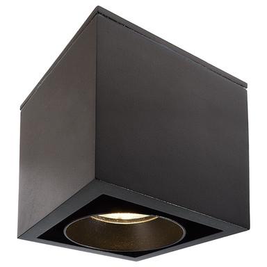 LED Deckenaufbauleuchte Ceti in Schwarz 9.2W 730lm IP44