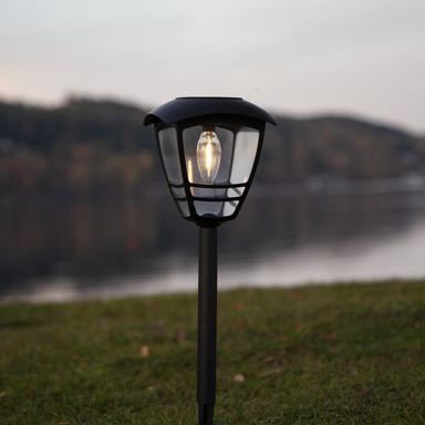 LED Solarleuchte Felix in Schwarz 450 mm