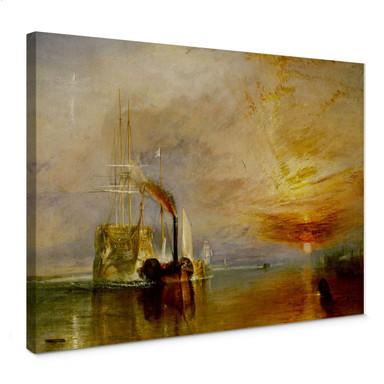 Leinwandbild Turner - Die Temeraire an ihrem letzten Ankerplatz