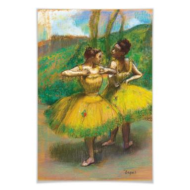 Poster Degas - Zwei Tänzerinnen in gelb