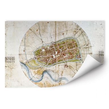 Wallprint Da Vinci - Stadtplan von Imola