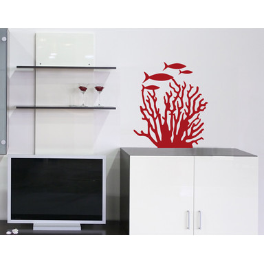 Wandtattoo Korallenriff Fische