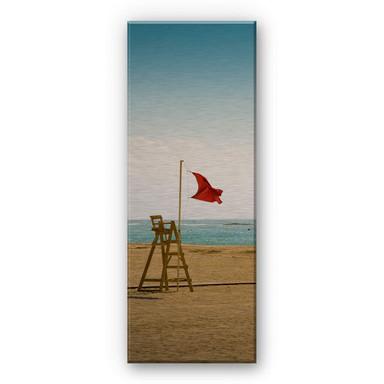 Alu Dibond Bild Rote Fahne - Panorama