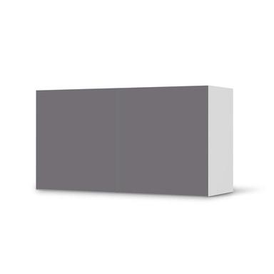 Folie IKEA Besta Regal 2 Türen (quer) - Grau Light