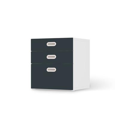 Folie IKEA Stuva / Fritids Kommode - 3 Schubladen - Blaugrau Dark
