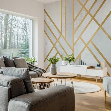 Fototapete Fredriksson - Art Deco: Goldene Geometrie - 240x260cm - Bild 1