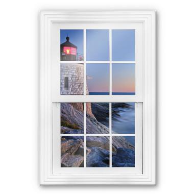 Glasbild 3D Fenster - Meerblick