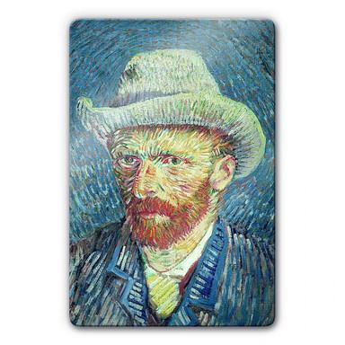 Glasbild van Gogh - Selbstbildnis