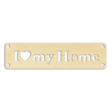 Holz-Anhänger I love my home