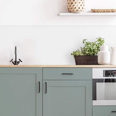 Küchenrückwand Alu-Dibond weiss