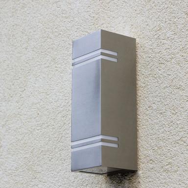 LED Wandleuchte Stripes in Edelstahl 2x 6W 1360lm IP44