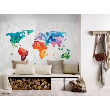 Livingwalls Fototapete Designwalls Colourful World Weltkarte - Bild 1