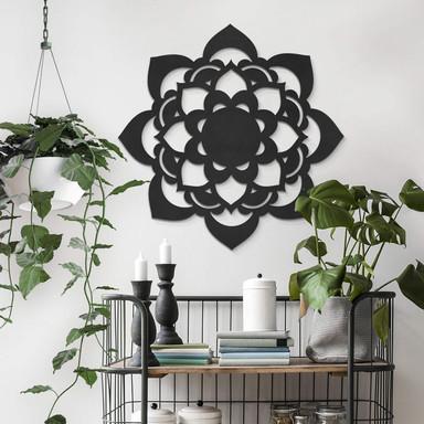 MDF - Holzdeko - Mandala Lotus
