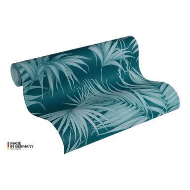 Michalsky Living Vliestapete Dream Again Tapete mit Palmenprint in Dschungel Optik blau, grün
