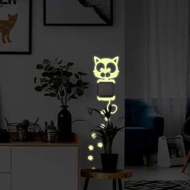 Wandtattoo Lichtschaltersticker Katze