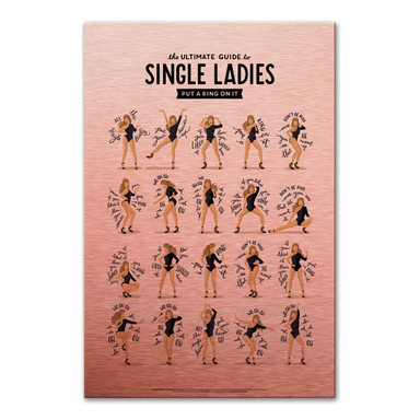 Alu-Dibond Bild mit Kupfereffekt Tohmé - Single Ladies