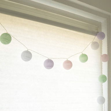 Cotton Ball Lights LED-Lichterkette Pastell 20-teilig - Bild 1