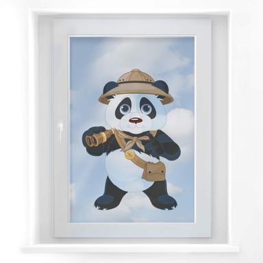 Fensterdekor Panda auf Safari