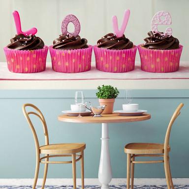 Fototapete Lovely Cupcakes - 384x260cm - Bild 1