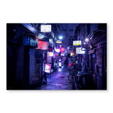 Glasbild Hugonnard - Nachtleben in Japan