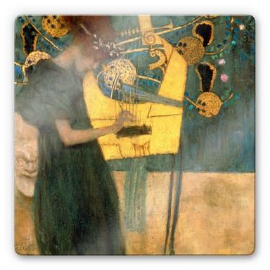 Glasbild Klimt - Die Musik