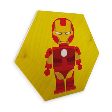 Hexagon - Holz Birke-Furnier Gomes - Iron Man Spielzeug