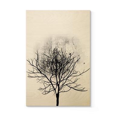 Holzposter Kubistika - Baumstudie 03