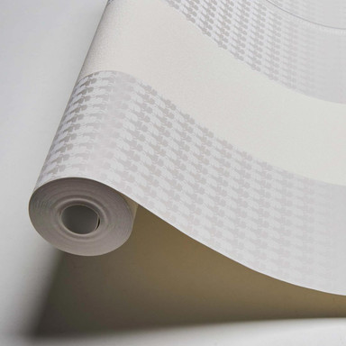 Karl Lagerfeld Wallpaper Vliestapete Ribbon grau, weiss