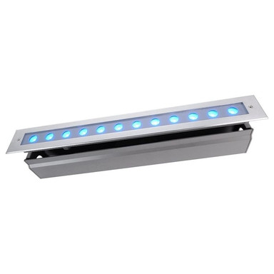 LED Bodeneinbaustrahler Line V RGB in Silber und Transparent 18W 340lm IP67