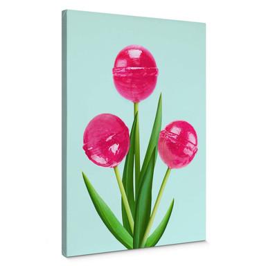Leinwandbild Fuentes - Lollipop Tulips