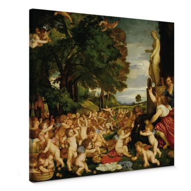 Leinwandbild Tizian - Das Venusfest