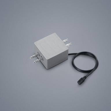 Lichtschienen Linienverbinder Vigo in nickel-matt mit Kabeleinspeisung