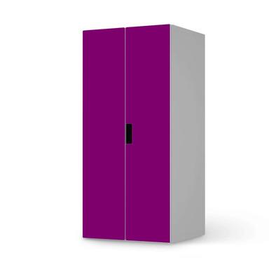 Möbelfolie IKEA Stuva / Malad Schrank - 2 grosse Türen - Flieder Dark