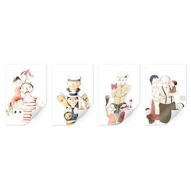 Poster Loske - Familien Porträts (4-teilig)