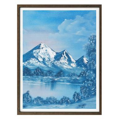 Poster Toetzke - Alpsee in den Bergen