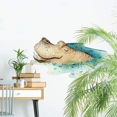 Wandtattoo Kvilis - Träumendes Nilpferd