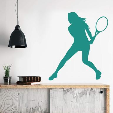Wandtattoo Tennisspielerin 03
