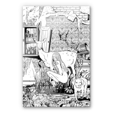 Acrylglasbild Drawstore - In the Livingroom