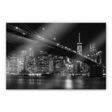 Acrylglasbild New York bei Nacht
