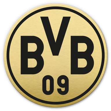Alu-Dibond-Goldeffekt BVB Logo