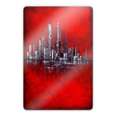 Glasbild Fedrau - Rot