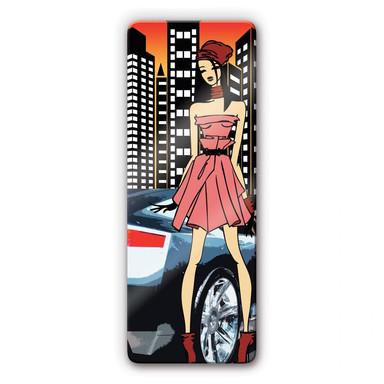 Glasbild Urbangirl Streetstyle
