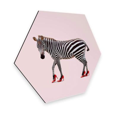 Hexagon - Alu-Dibond Loose - Zebra Heels