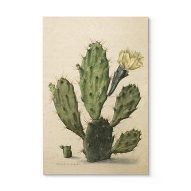 Holzposter Saftleven - Kaktus