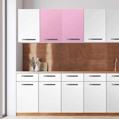 Klebefolie - Wandschrank 80cm Breite - Pink Light
