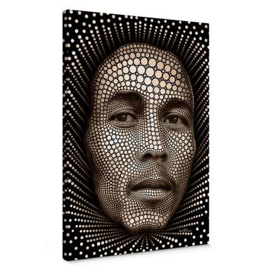 Leinwandbild Ben Heine - Circlism: Bob Marley