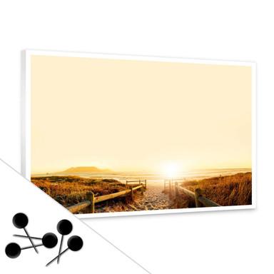 Pinwand Sunset at the Beach inkl. 5 Pinnadeln - Bild 1