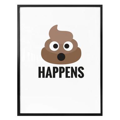 Poster - Emojione - Shit happens